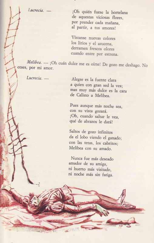 Ilustración primera del acto XIX de la edición Barcelona (1968)
