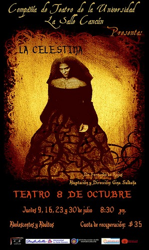 Representación de la Compañía de Teatro de la Univ. La Salle,  Cancún, 2009