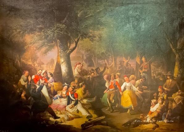 Baile en la Ermita de la Virgen del Puerto, de de Guzmán (1857)