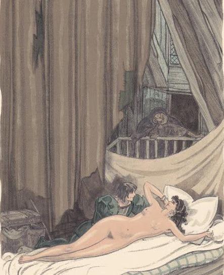 Ilustración tercera del acto VII de la edición de París (1949)