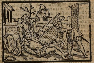 Ilustración segunda del acto XIX de la edición de Amberes (1616)