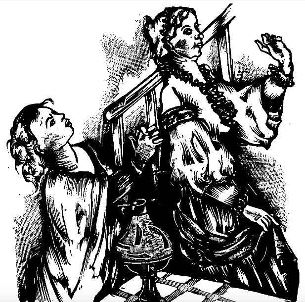 Suplicando a Celestina, de Gelabert (1945)