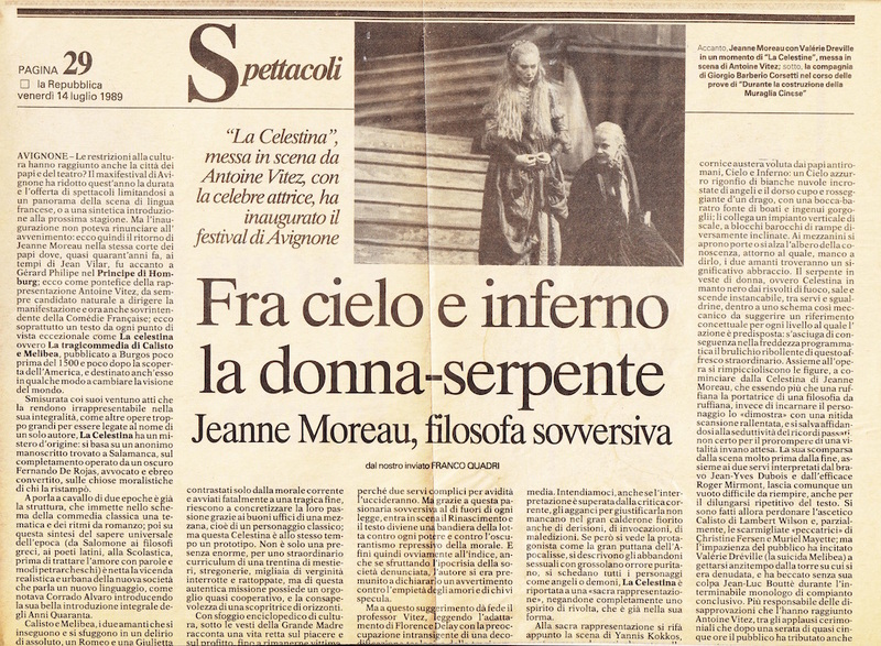 Representación del Festival D'Avignon, Avignon, de Vitez (1989)