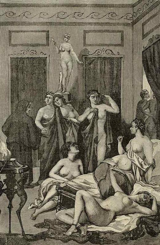 Burdel en antigua Grecia, de Jacobs (1885)