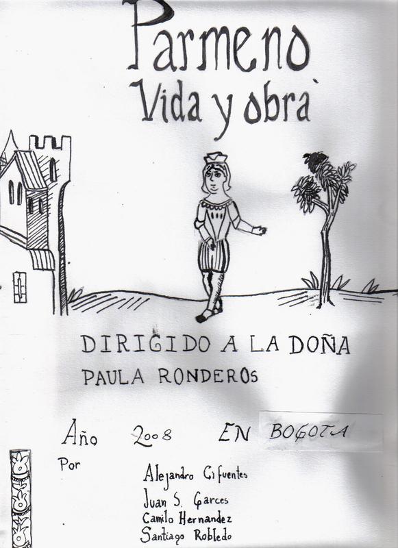Pármeno, vida y obra, dibujo de portada, varios autores (2008)