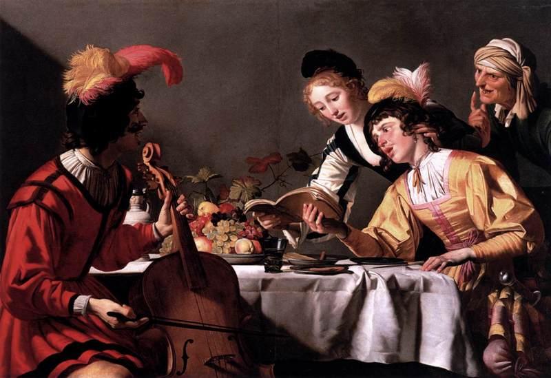 Concierto, de Honthorst (1625, c.)