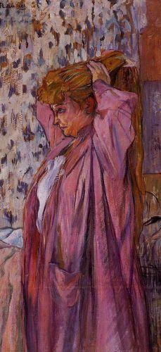 La 'madama' rehaciendo su peinado, de Henri de Toulouse-Lautrec (1893)