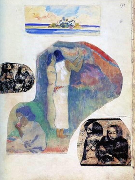 Imagen del cuaderno Noa Noa, de Gauguin (1900s)
