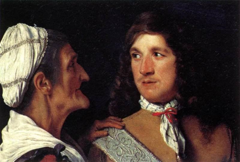 Hombre joven y alcahueta, de Sweerts (1660 c.)
