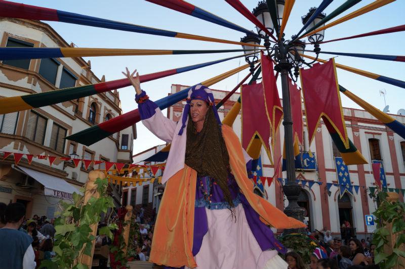 Representación de las XVIII Jornadas Medievales de Cortegana, Huelva, 2013