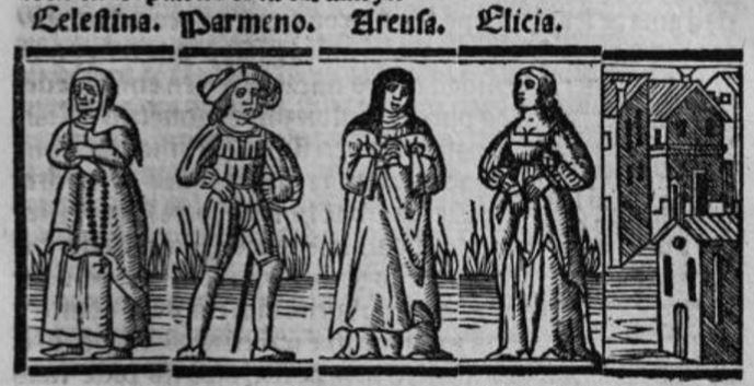 Grabado del acto VII de la edición de Sevilla (1523)