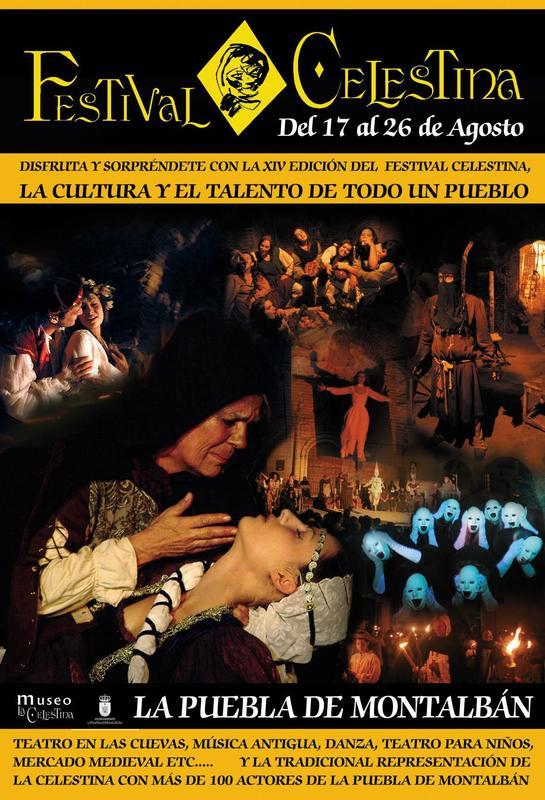 Cartel del festival de La Celestina de la Puebla de Montalbán, 2012
