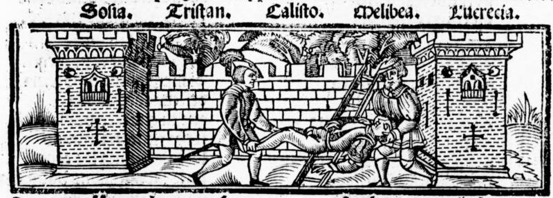 Ilustración del acto XIX de la edición de Salamanca (1540)