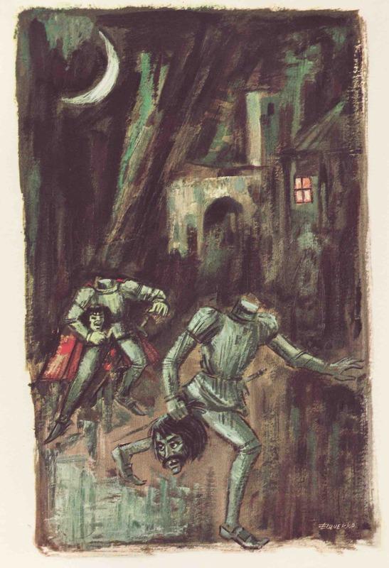 Ilustración tercera del acto XIII de la edición Barcelona (1968)