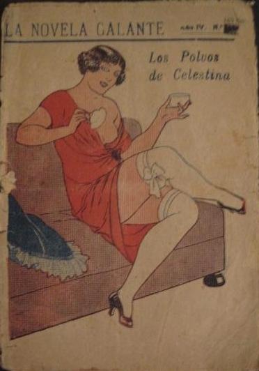 Los polvos de Celestina, portada de La novela galante (1925 c.)