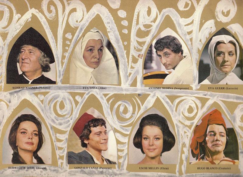 Personajes de la película La Celestina de Ardavín