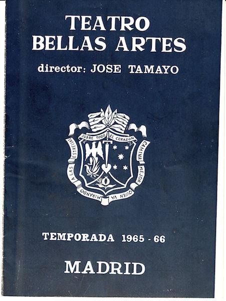 Programa de la representación de Madrid, 1965.