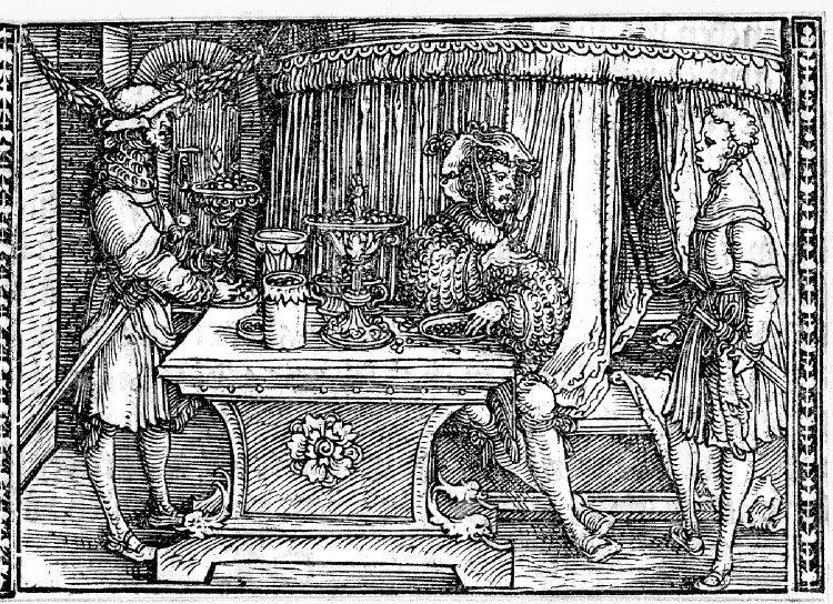 Grabado del acto VIII de la edición de Augsburg (1520)