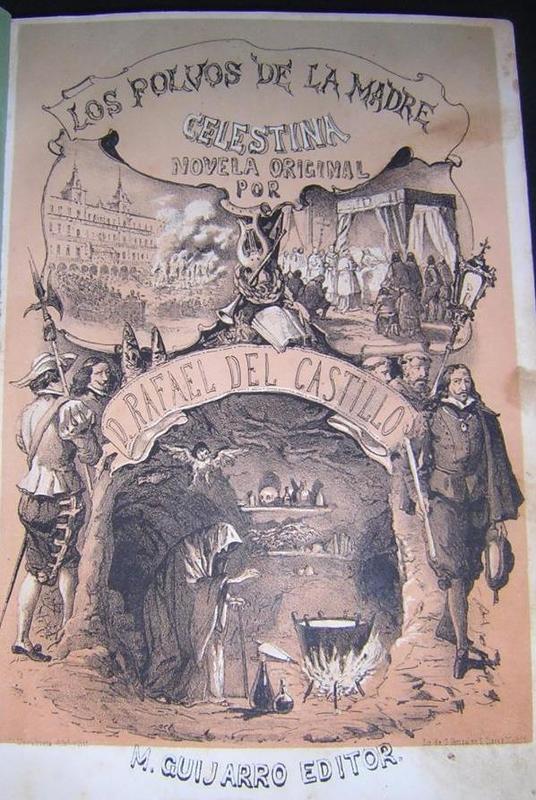 Portada de Los polvos de la madre Celestina (novela de Rafael del Castillo) (1862)