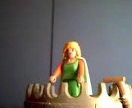 Celestina Playmobil, video en YouTube del suicidio de Melibea, Canal de Lorzo (2007)