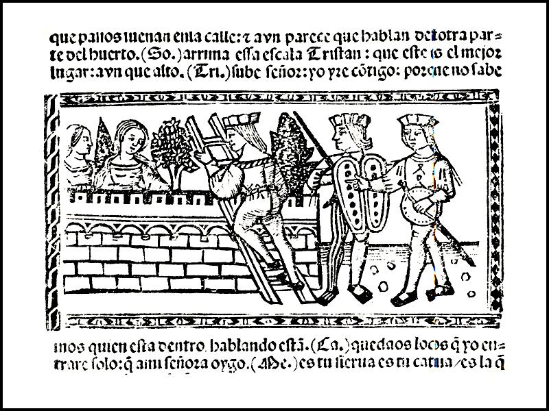 Grabado del acto XIV de la edición de Valencia (1514)