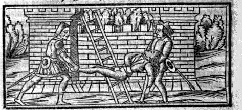 Grabado segundo del acto XIX de la edición de Sevilla (1523)
