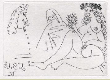 Femme Blonde a la fleur, Célestine et 'Mousquetaire'