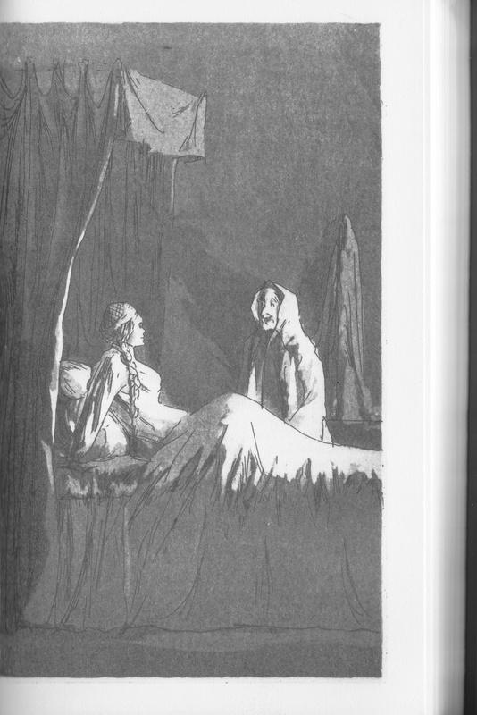 Ilustración del acto VII de la edición de Londres (1973)