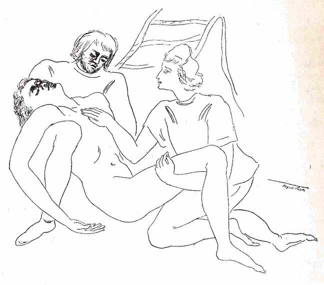 Ilustración primera del acto XIX de la edición de México (1947)