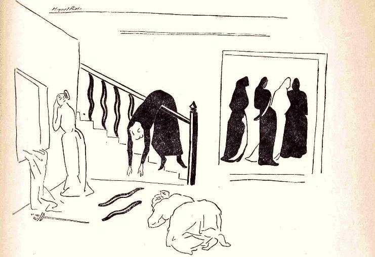 Ilustración primera del acto XIII de la edición de México (1947)