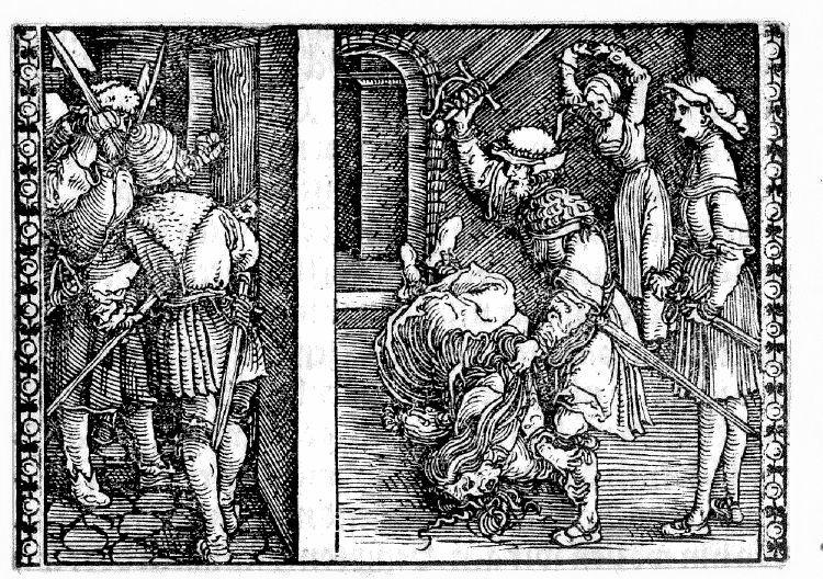Grabado (segundo) del acto XII de la edición de Augsburg (1520)