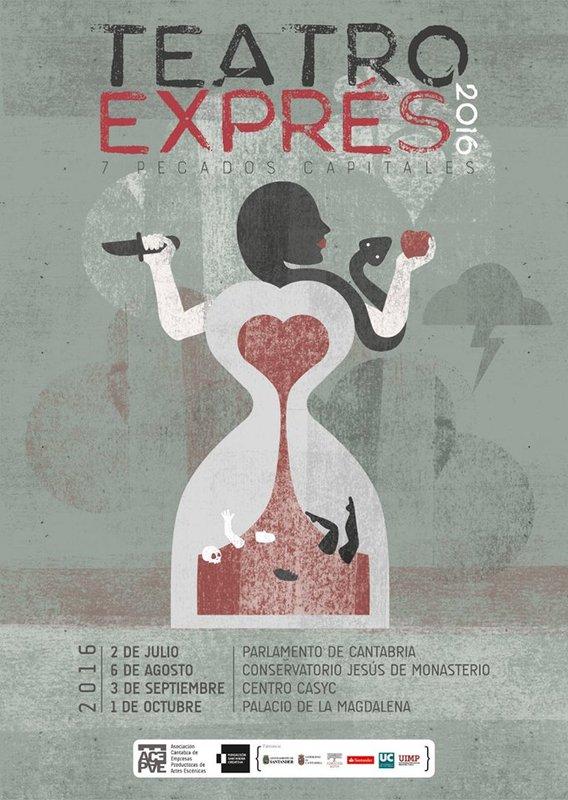 Representación del Teatro Exprés, Asturias, de Díez, 2016