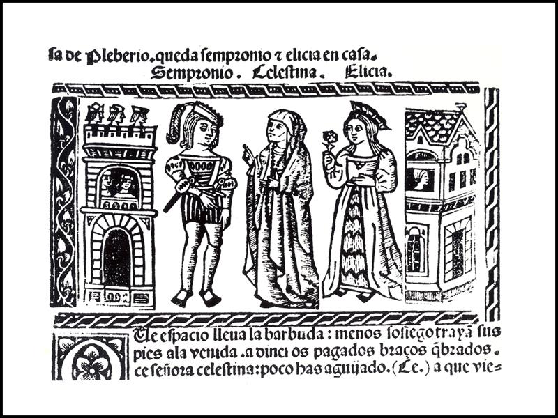 Grabado del acto III de la edición de Valencia (1514)