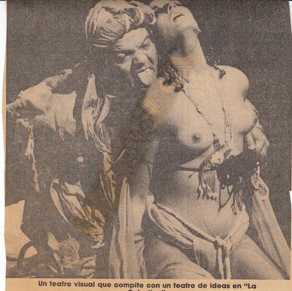 Representación de la Fundación Rajatabla, Gira 1987-1989.
