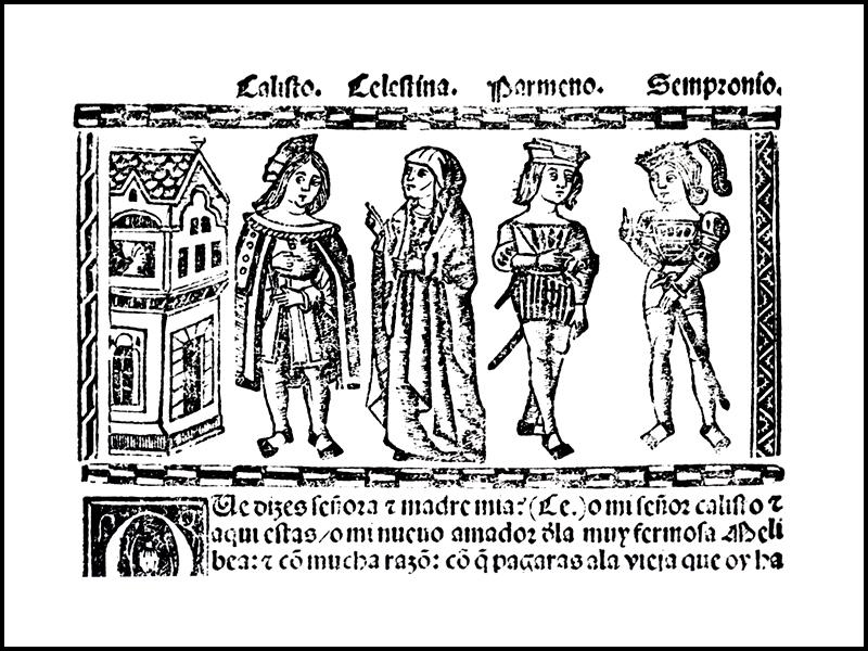 Grabado del acto VI de la edición de Valencia (1514)