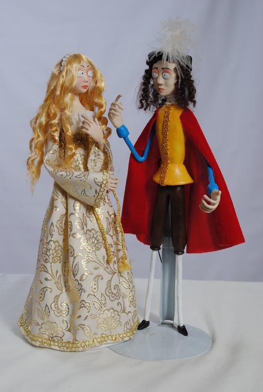 Muñecos de Calisto, Melibea y Celestina, de Jaume Arlandy (2011 y 2016)