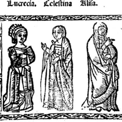 Ilustración del acto IV de la edición de Valencia (1529)