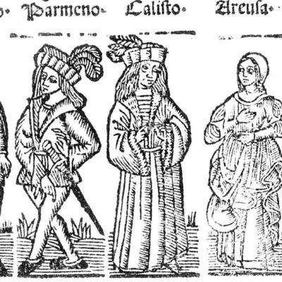 Ilustración del acto VIII de la edición de Roma: Marcelo Silber, 1515 (colofón Stanislao Polono, Sevilla, 1502)
