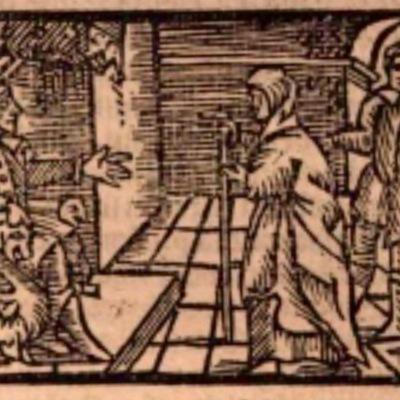 Ilustración del acto XI de la edición de Estella (1557)