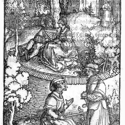 Grabado del argumento de la edición de Augsburg (1520)
