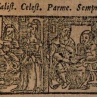 Imagen del acto VI de la edición de Salamanca (1590)