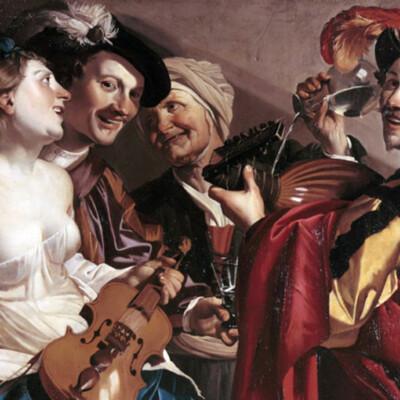 Concierto (el hijo pródigo entre las prostitutas), de van Baburen (1623)