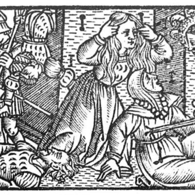Ilustración segunda del acto XII de la edición de Toledo (1538)