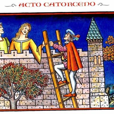Primera ilustración del acto XIV de la edición de Madrid, 2005