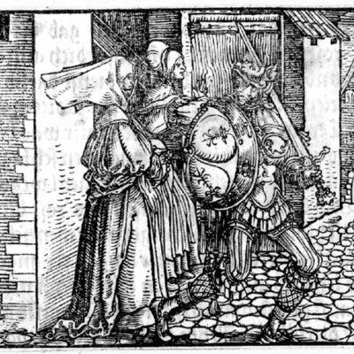 Grabado del acto XV de la edición de Augsburg (1520)