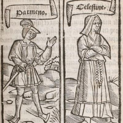 Ilustración del acto VII de la edición de París (1527)