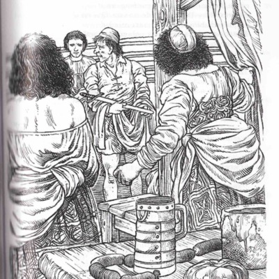 Ilustración de la página 203 de la edición Madrid, 2001.
