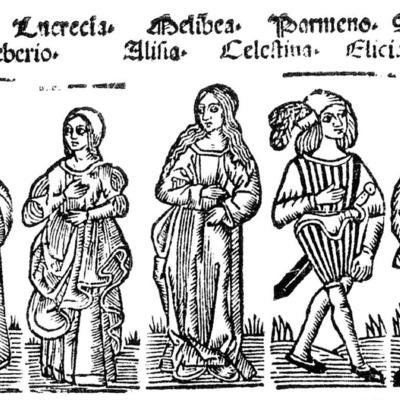 Ilustración del acto XII de la edición de Roma: Marcelo Silber, 1515 (colofón Stanislao Polono, Sevilla, 1502)