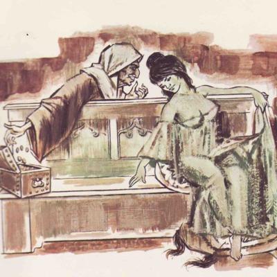 Ilustración primera del acto IX de la edición de Barcelona (1968)