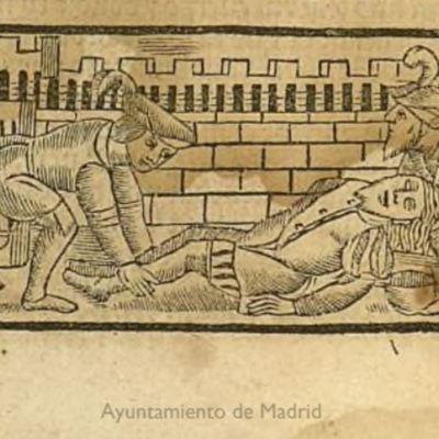 Segunda ilustración del acto XIX de la edición de Zaragoza, 1545